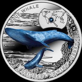 Płetwal błękitny, 1 dolar, Seria: SOS dla Świata – Zagrożone Gatunki Zwierząt