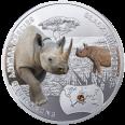 Nosorożec czarny, 1 dolar, SOS dla świata - Zagrożone gatunki zwierząt