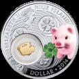 Świnka, 1 dolar, Seria: Symbole szczęścia